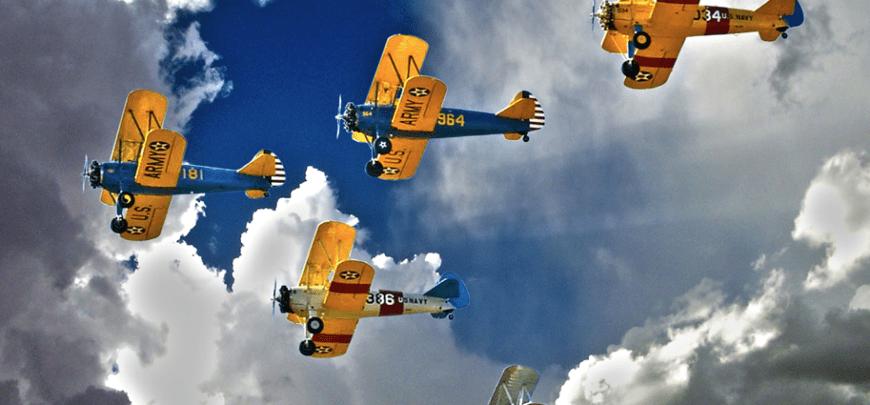 Formation Flying Lafayette Escadrille d' Arizona