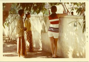 An - Setun' & Cheryl - watching insurgents being subdued - Cambodia 1972